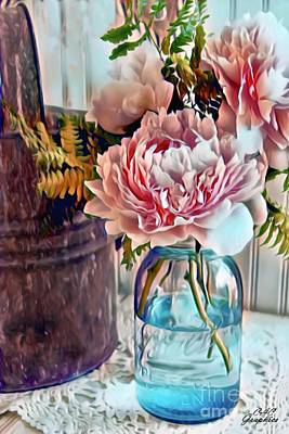 Painting - Farmhouse Flowers by CAC Graphics