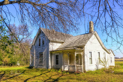 Photograph - Farmhouse by Jim Thompson