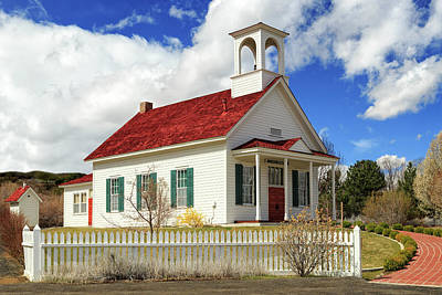 Photograph - Farmhouse School In Color by James Eddy