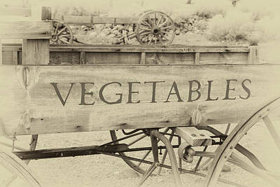 Photograph - Farmhouse Vegetable Wagon by James Eddy