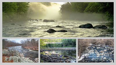 Photograph - Farmington River Collage by Tom Cameron