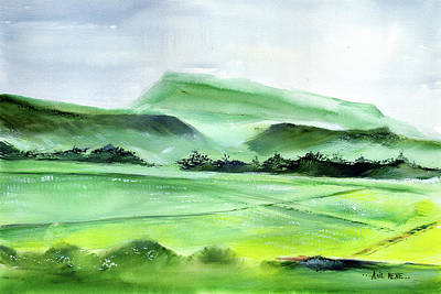 Painting - Farmland 2 by Anil Nene