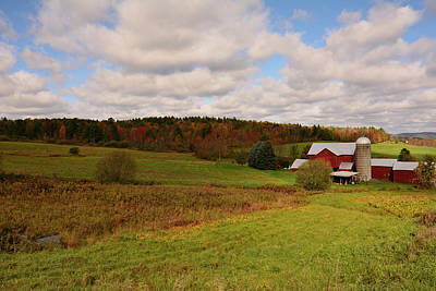 Photograph - Farmland In Autumn by Angie Tirado