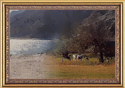 Mixed Media - Farmland Meets The Lake by Clive Littin