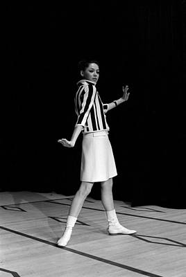 Photograph - Fashion Mini Dress Courreges In France by Reporters Associes