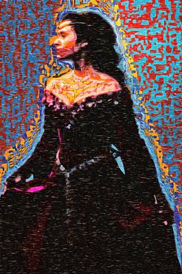 Digital Art - Fashion Model In Medieval Dress by Mario Carini