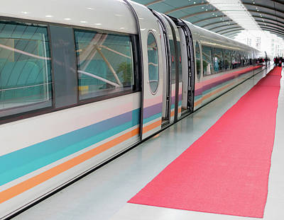 Photograph - Shanghai Maglev Magnetic Train by Nick Mares