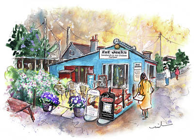 Painting - Fat Jacks Ice Cream Parlour On Lizard Peninsula by Miki De Goodaboom