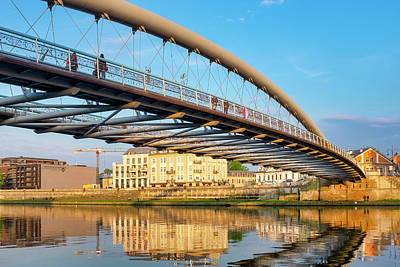 Photograph - Father Bernatek Pedestrian Bridge by Fabrizio Troiani