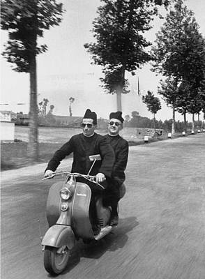 On The Move Photograph - Father Giovanni Antonelli And Another by James Whitmore