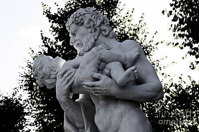 Photograph - Fatherhood Sculpture, Karlsruhe Palace, Germany by Elzbieta Fazel