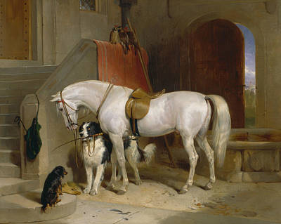 Painting - Favourites, The Property Of H.r.h. Prince George Of Cambridge by Edwin Landseer