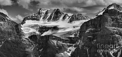 Photograph - Fay Glacier Panorama Black And White by Adam Jewell