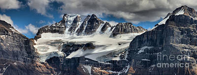 Photograph - Fay Glacier Summer Panorama by Adam Jewell