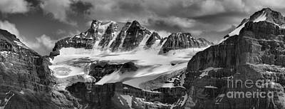 Photograph - Fay Glacier Summer Panorama Black And White by Adam Jewell