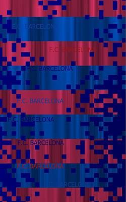 Neymar Wall Art - Digital Art - Fc Barcelona Pixel by Alberto RuiZ
