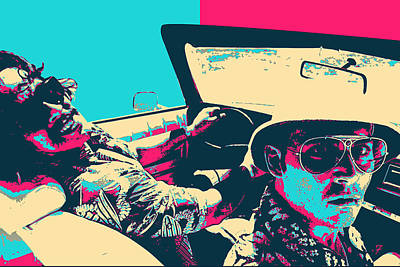 Digital Art - Fear And Loathing In Las Vegas Revisited - Raoul Duke And Dr. Gonzo by Serge Averbukh