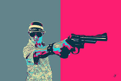 Digital Art - Fear And Loathing In Las Vegas Revisited - Raoul Duke  by Serge Averbukh