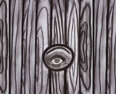 Fear - Eye Through Fence Art Print