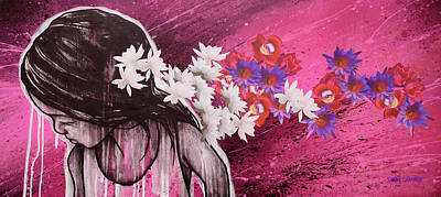 Mixed Media - Fearless Flower by Shane Grammer