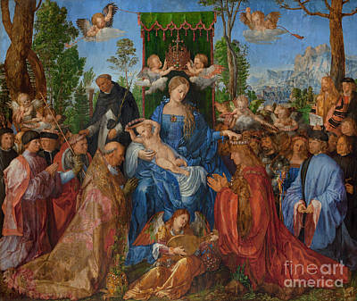 Painting - Feast Of The Rose Garlands, 1506 by Albrecht Durer