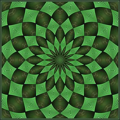 Digital Art - Feathered Brakken Green K-16 Tile by Doug Morgan