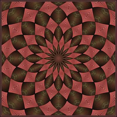 Digital Art - Feathered Brakken Tile Pink by Doug Morgan