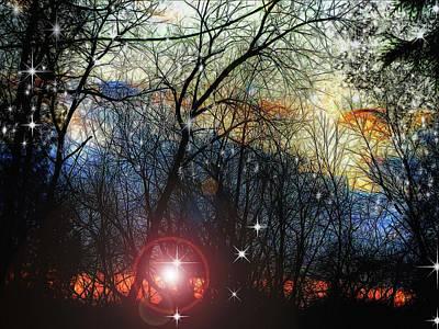 Digital Art - Feb Sunset Thinks Of Snow by Cindy Boyd