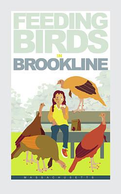 Digital Art - Feeding The Birds by Caroline Barnes