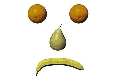 Food And Beverage Digital Art - Feeling Fruity Frown Png by Betsy Knapp