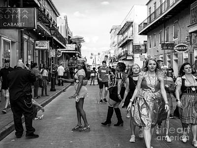 Photograph - Feeling Pretty On Bourbon Street New Orleans by John Rizzuto