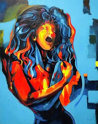Painting - Feelings by Grus Lindgren