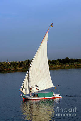 Firefighter Patents Royalty Free Images - Felucca with white sails, sailing along the Nile River - Egypt Royalty-Free Image by Ulysse Pixel