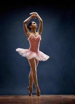 Balance Photograph - Female Ballet Dancer Dancing by David Sacks