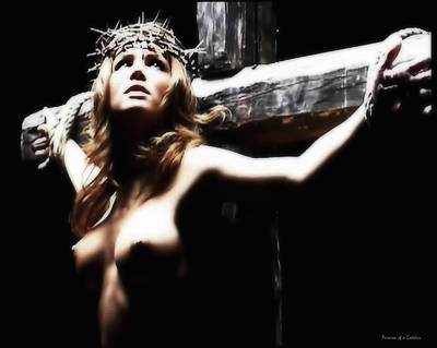 Crucifixion Wall Art - Photograph - Female Christ by Ramon Martinez