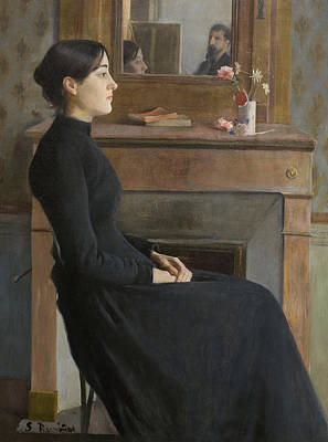 Painting - Female Figure by Santiago Rusinol