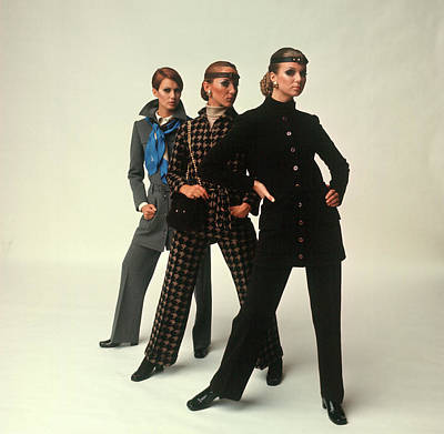 Photograph - Female Models Wearing Pants Suit by Bill Ray
