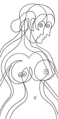 Painting - Female Naked Figure by Manuel Bennett