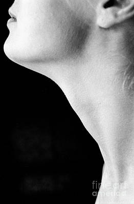 Photograph - Female Neck Side View by Guido Koppes