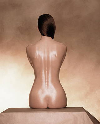 Naked Photograph - Female Nude, Rear View by Frank P Wartenberg