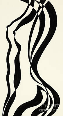 Painting - Female Nude Untitled by Manuel Bennett