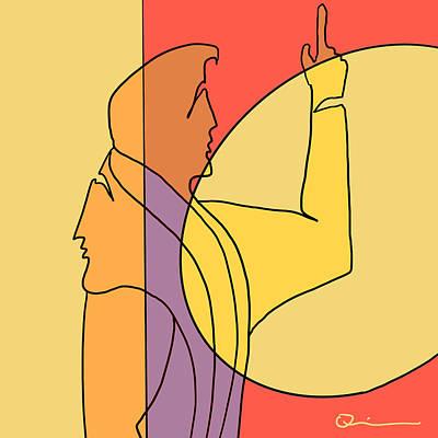 Digital Art - Feminine Side by Jeff Quiros