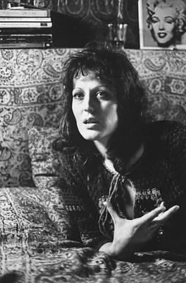 Photograph - Feminist Author Germaine Greer by Terence Spencer