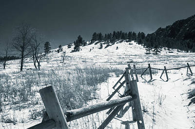 Photograph - Fence In Winter by Dan Urban