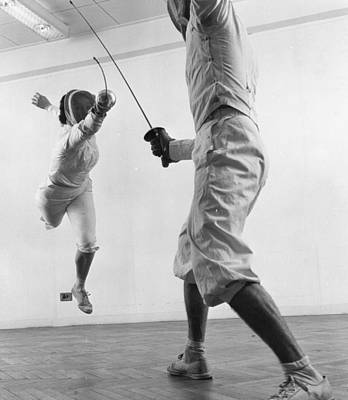Photograph - Fencers by Thurston Hopkins