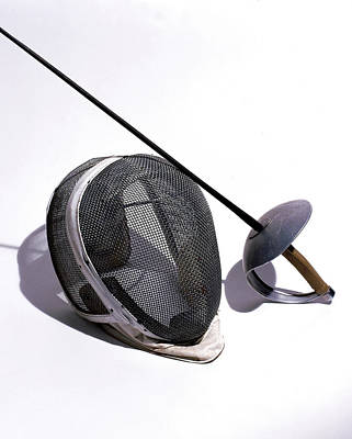 Photograph - Fencing Helmet And Sword by Eric Anthony Johnson