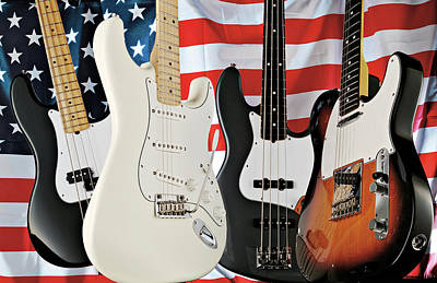 Fender 2008 American Standard Series Art Print by Guitarist Magazine