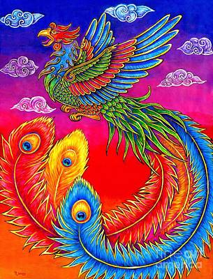 Painting - Fenghuang Chinese Phoenix by Rebecca Wang