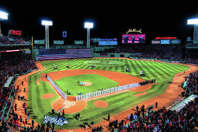 Boston Red Sox Wall Art - Painting - Fenway Park Boston Red Sox Baseball Ballpark Stadium by Christopher Arndt