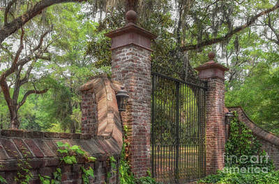 Photograph - Fenwick Hall Plantation Gates - Johns Island South Carolina  by Dale Powell